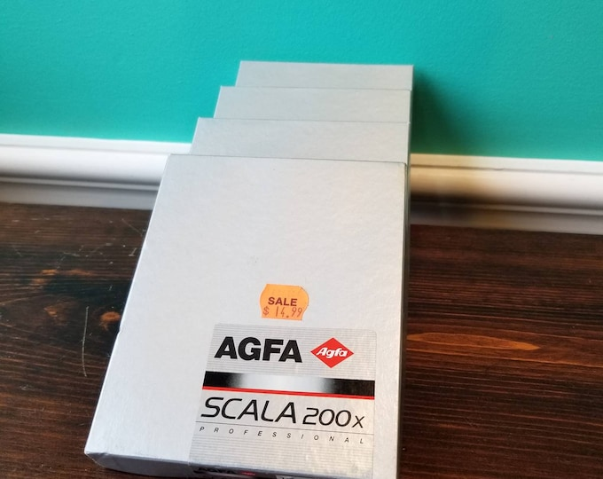 Agfa Scala 200 X Professional - 10 Sheets 4x5 - Exp. 2001