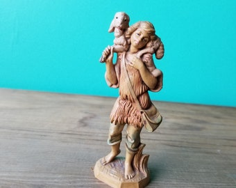 Vintage Fontanini Figurine - 123  Village Boy with Lamb