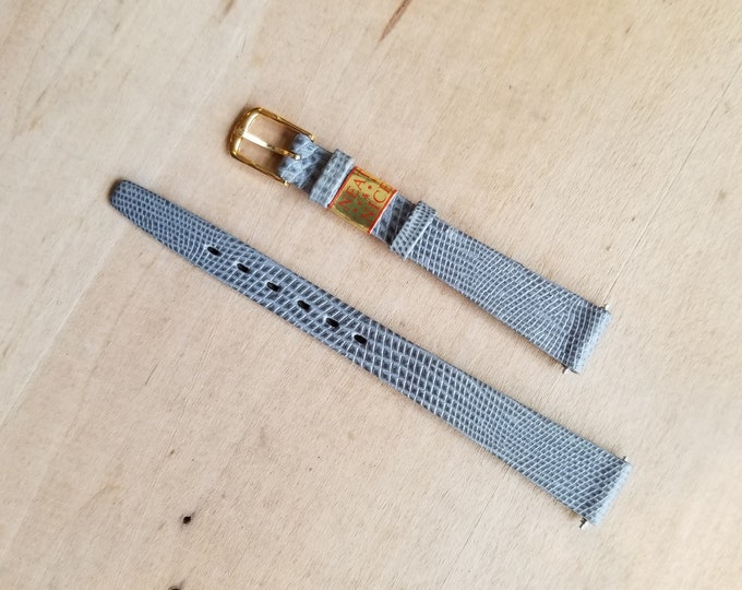 Grey Leather Watch Strap - 12