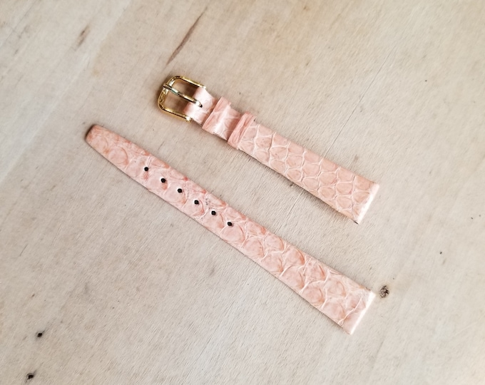 Pink Leather Watch Strap - 14