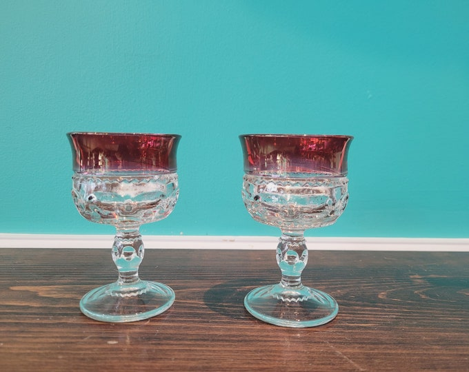 Pair of Pressed Glass Goblets