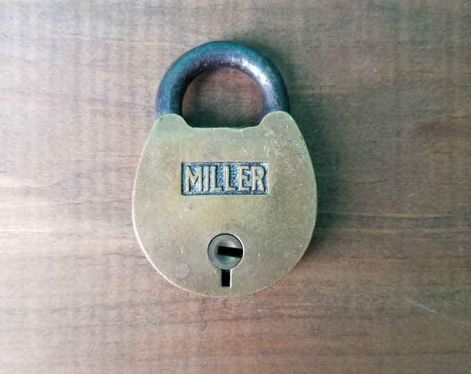 Solid Brass Padlock - Miller - Made in USA