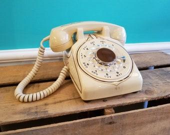 Hand Painted Rotary Phone