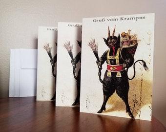 Gruss Vom Krampus - Blank Christmas Card Set - 12
