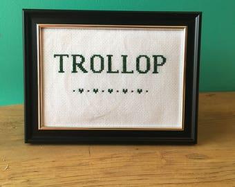 Crassstitches -Trollop - Handmade in Toronto