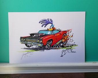 Jimmy Michaels Original - 69 Plymouth Road Runner Hot Rod Art - Print