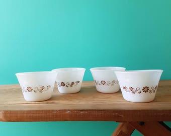 Set of Four Milkglass Bowls