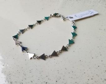 Delightfully Dainty Geometric Bracelet - Sterling - Fierce Deer