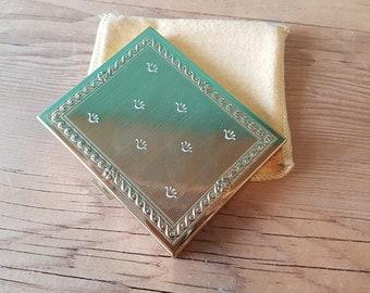 Vintage Brass Revlon Powder Compact