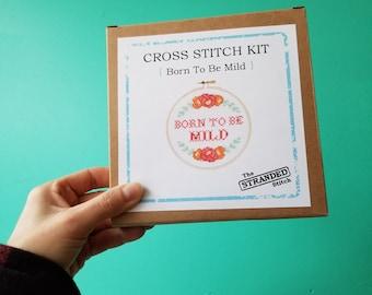 "Born to be Mild - 6"" Cross Stitch Kit"