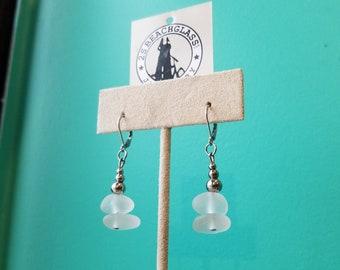 Wire Wrapped Beachglass Earrings - 2SBeachglass