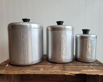 Century Aluminum Ware Canister Set