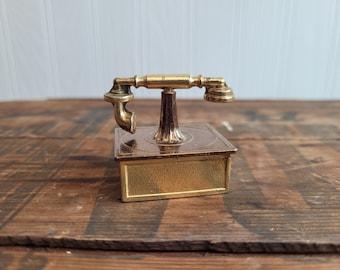 Brass Telephone Figurine