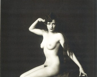 1920's Ziegfeld Follies Nude Doris Podmore Showgirl-Black and White [730-709]-Sexy Erotic Cheney-Johnston Classic