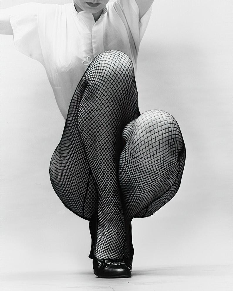 sexy showgirl artistic burlesque 1950/'s era Fishnets legs fishnet stockings black /& white classic 730-1073 multiple sizes