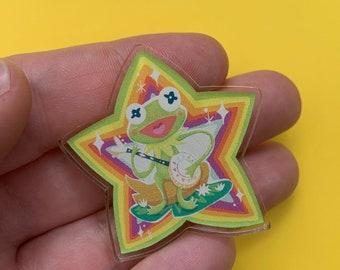 Rainbow Connection Kermit Acrylic Pin 40mm