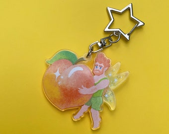 Peach Fairy Double Sided Charm