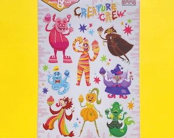 Monster Cereal Sticker Sheet