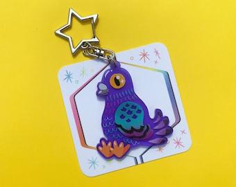 Purple Pigeon Charm