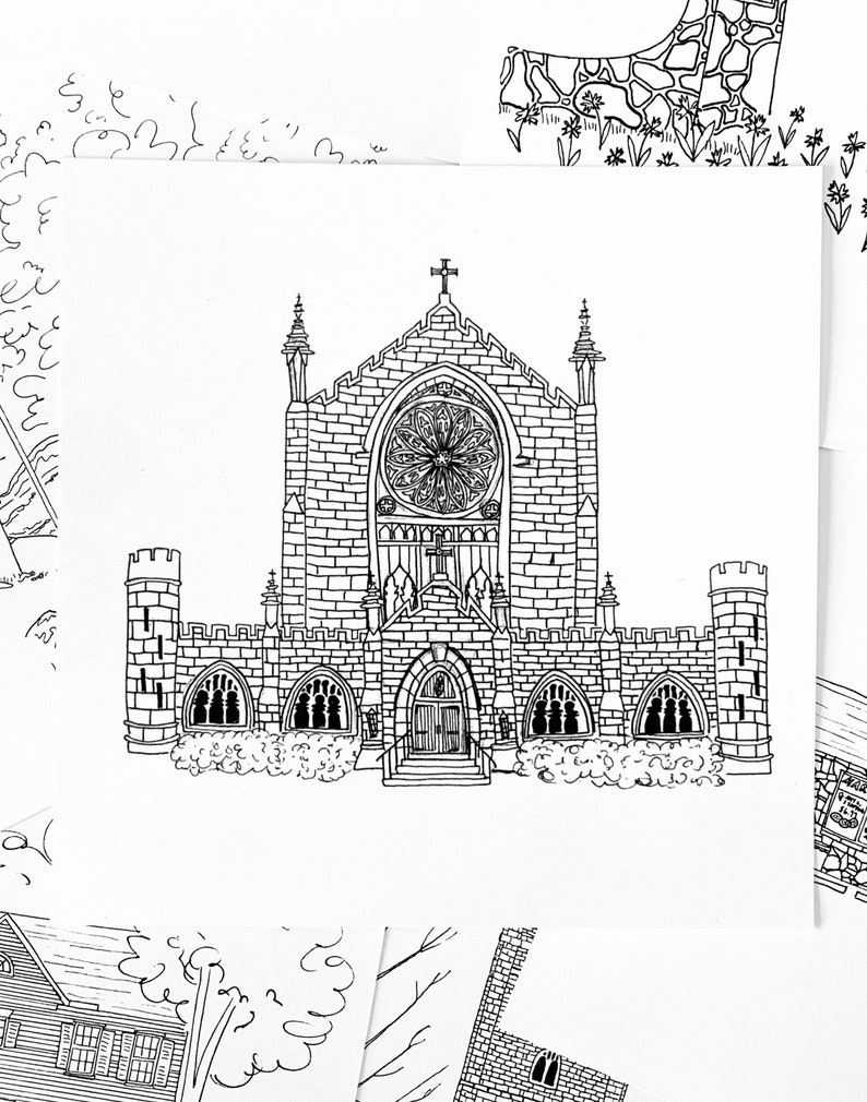 Sewanee All Saints Chapel print image 0