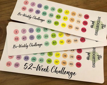 b645c1a2f94fe 52 Week Savings Challenge Stickers. Also available  26 Paycheck Savings  Challenge