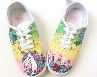 e36be62710e4e Rainbow shoes rainbow party rainbow birthday rainbow   Etsy