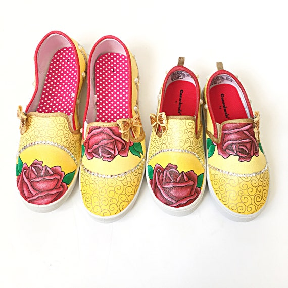 Beauty And The Beast Shoes Custom Belle Shoes Princess Etsy