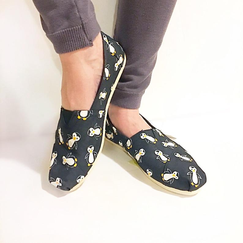 1d92b3ed17dfaa Custom penguin TOMS penguin gift penguin shoes hand
