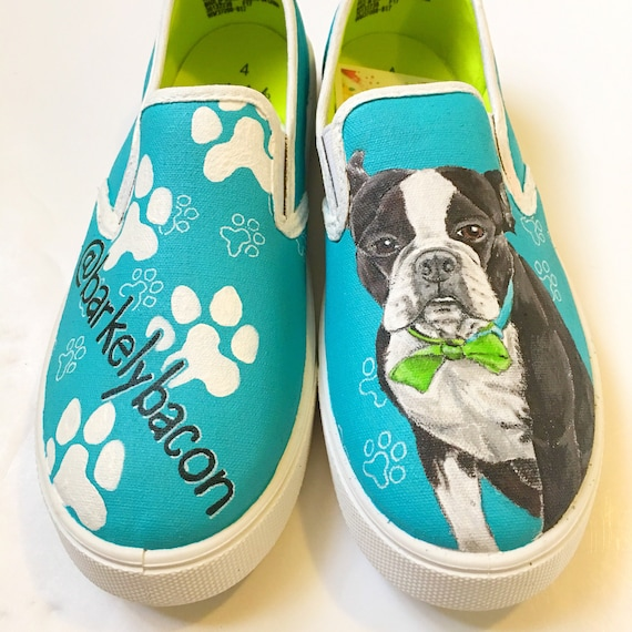 Custom dog canvas shoes toddler kids adult dachshound shoes  1f29f28a922c