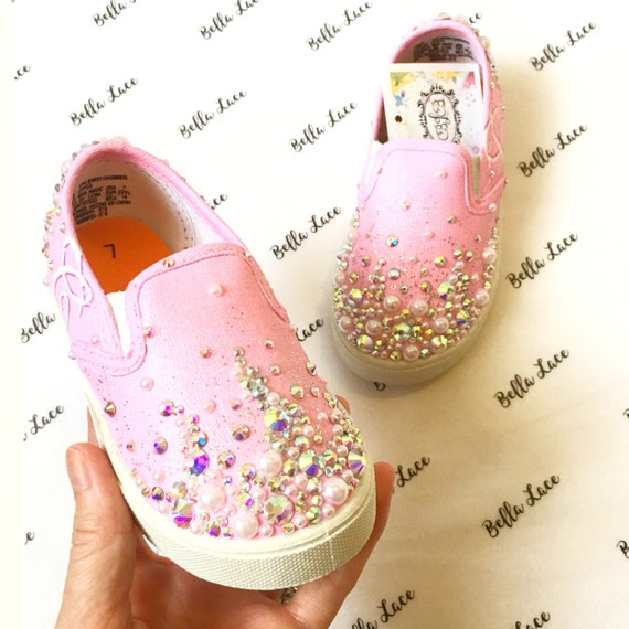 8853f197b3753 Princess shoes - custom crystal shoes - princess gift - party shoes -  little girl birthday - embellished shoes - girl birthday gift idea