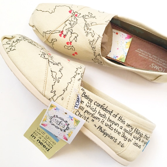 Custom world map shoes
