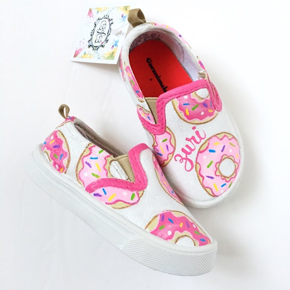 Custom donut canvas shoes personalized