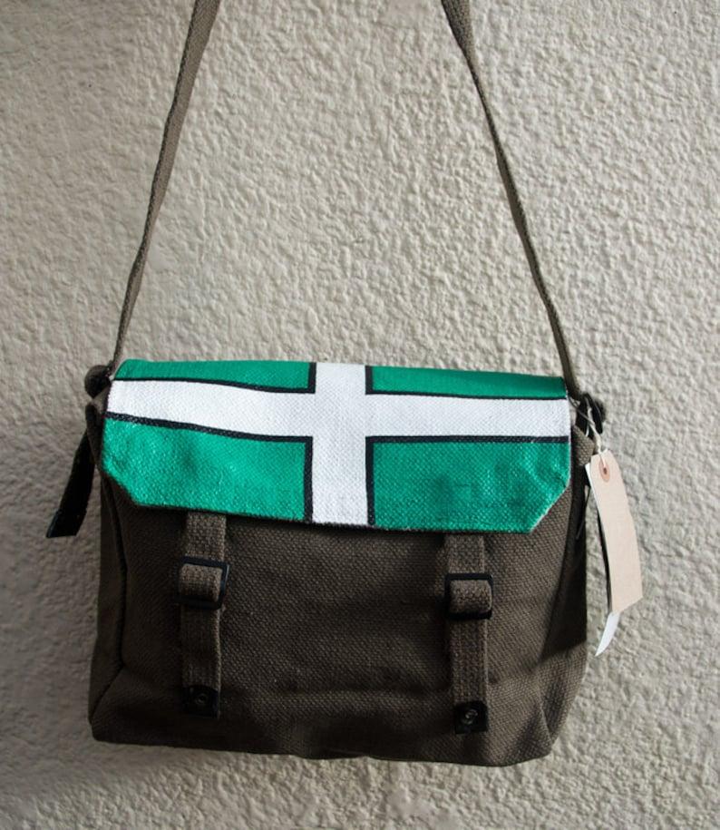 b3fa5f9ad7f3 Hand Painted messenger bag - 'Devon' Flag