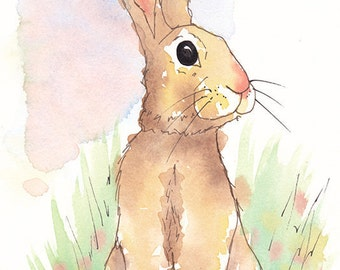 Ink and Watercolour Rabbit