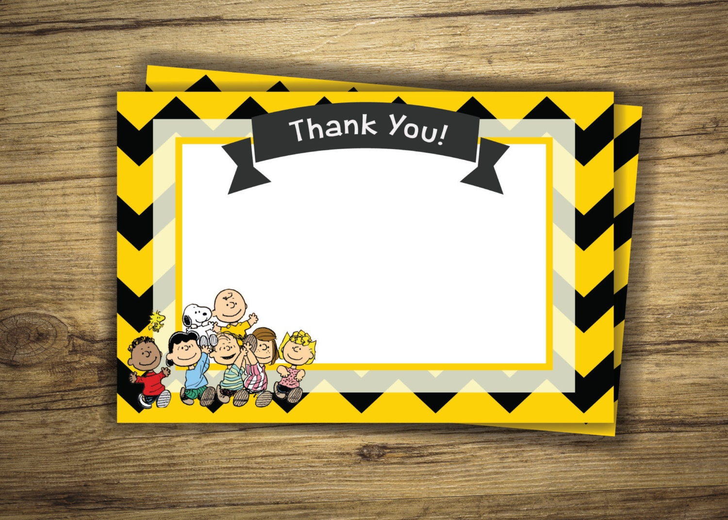 Charlie Brown Gang Matching Thank You Birthday Party | Etsy