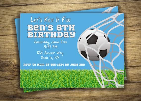 Voetbal Verjaardag Partij Futbol Voetbal Sport Verjaardag Etsy