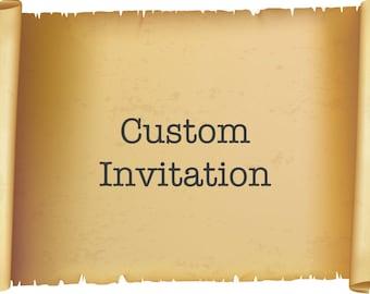 Custom Invitation  - Customize Invitation