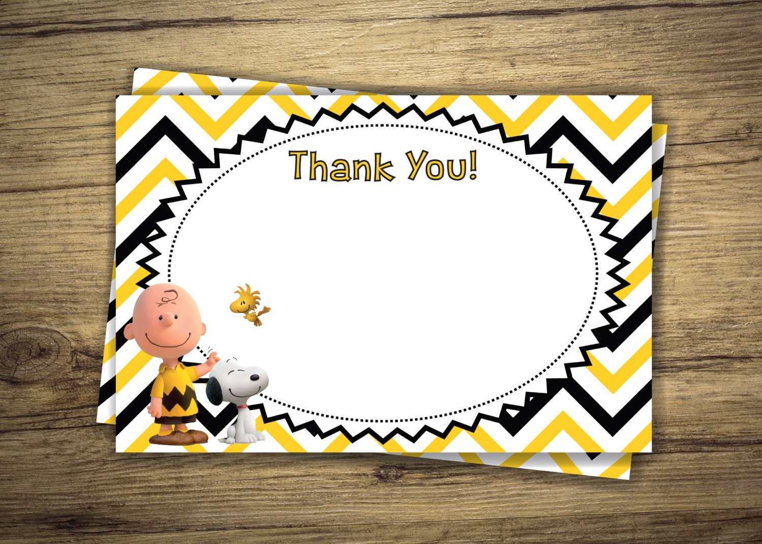 Charlie Brown & Snoopy Matching Thank You Birthday Party | Etsy