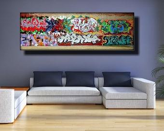 Graffiti Art Canvas Etsy
