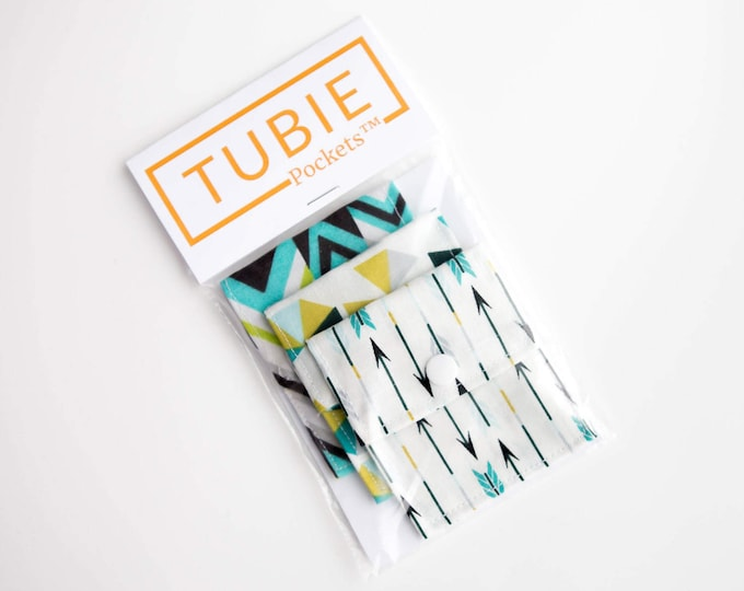 Tubie Pockets™ Set of 3 NG and NJ Tube Moveable Pockets for storage when not in use