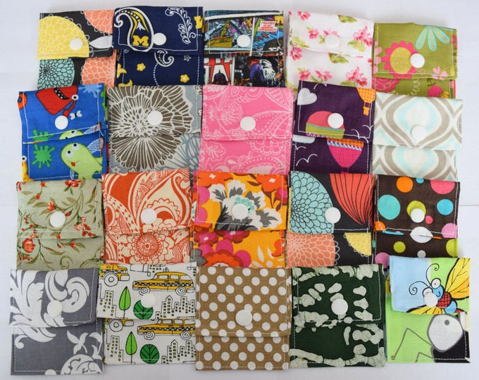 Tubie Pockets® Set of 10 Assorted Patterns NG and NJ Tube Moveable Pockets for Storage When Not In Use