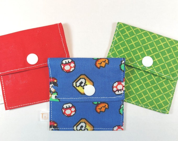Tubie Pockets® Set of 3 Mario Bros. NG and NJ Tube Moveable Storage Pockets