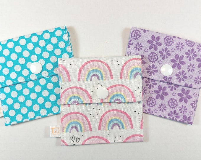 Tubie Pockets® Set of Rainbow 3 NG and NJ Tube Moveable Pockets for Storage When Not In Use