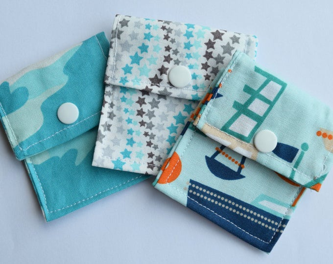 Tubie Pockets® Set of 3 Assorted Patterns NG and NJ Tube Moveable Storage Pockets