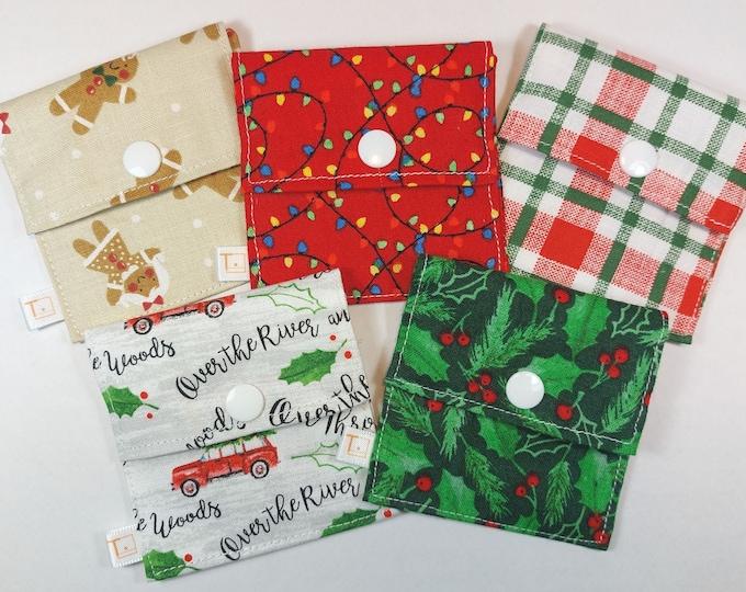 Tubie Pockets® Set of 5 Christmas NG and NJ Tube Moveable Storage Pockets