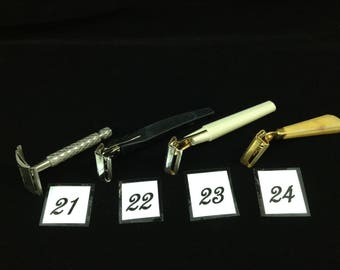 Selection of Vintage Razors- Gillette Tech, Schick Dial Injector