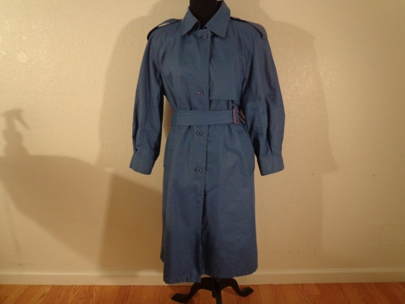 Vintage Classy Grayish Blue London Fog Coat   Size Medium by Etsy