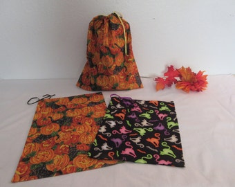 Colorful Handmade Halloween Gift/Treat Bags