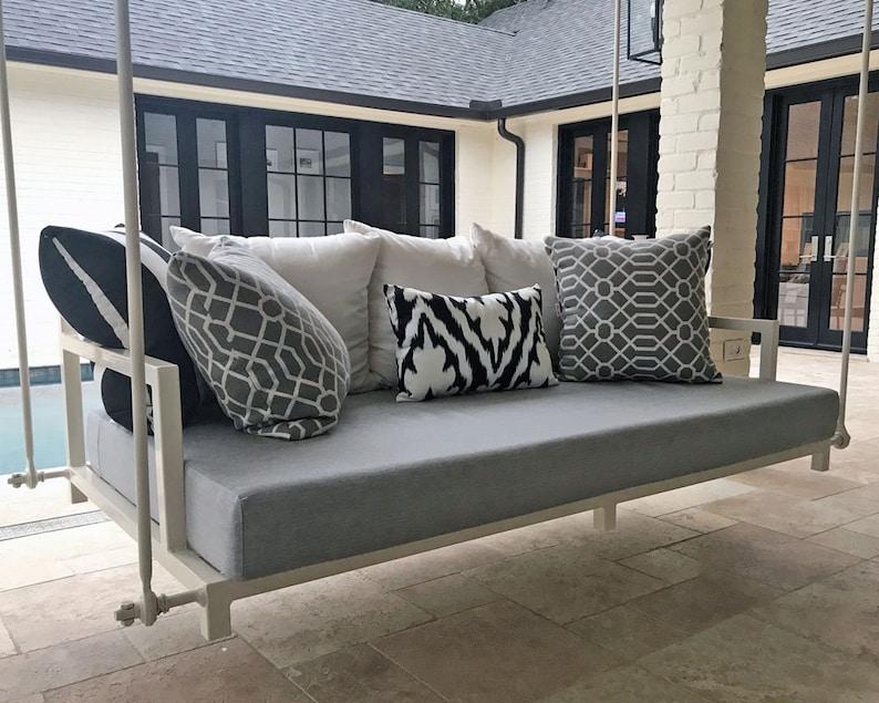 80 x 60 x 6 Cushion Cover Queen Mattress Sunbrella Custom Daybed Cushion Porch Swing Outdoor Fabric Porch Decor Queen Bed Size