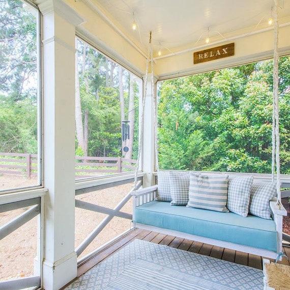 Sunbrella Custom Daybed Cushion Porch Swing Glider Swing Etsy